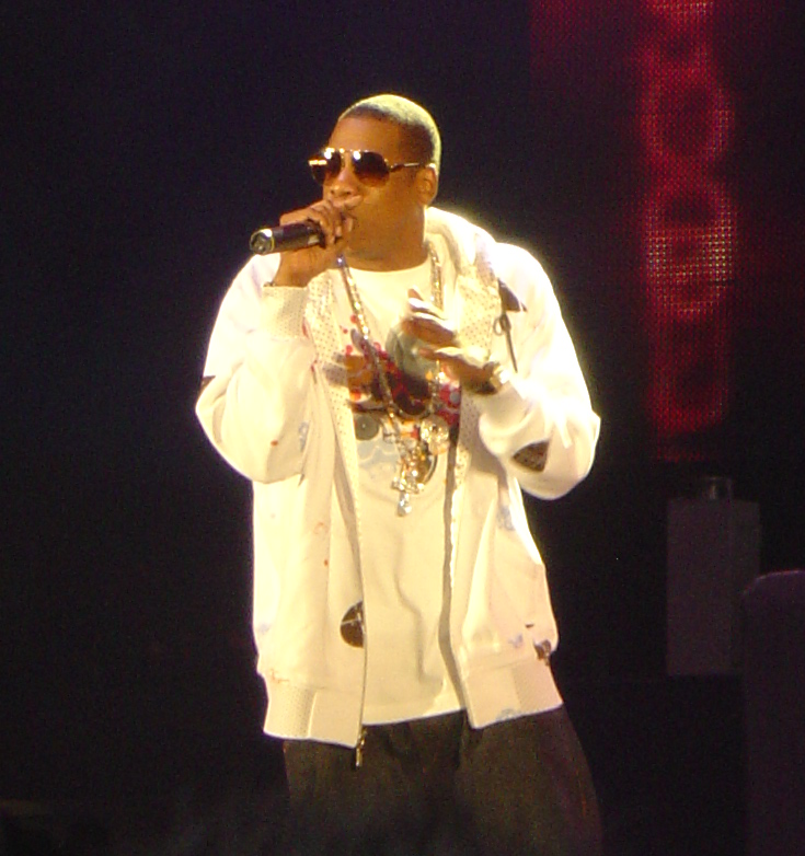 """Jay-Z concert (cropped)"" by i am guilty - JAY-Z, original resolution. Licensed under CC BY-SA 2.0 via Wikimedia Commons - http://commons.wikimedia.org/wiki/File:Jay-Z_concert_(cropped).jpg#/media/File:Jay-Z_concert_(cropped).jpg"